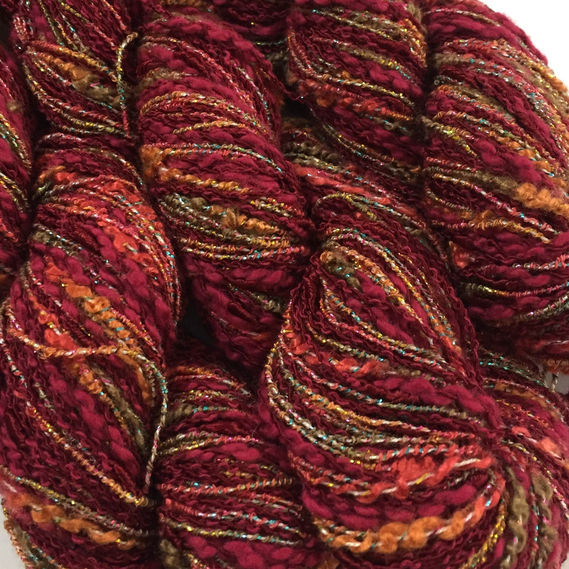Lucci Yarn IrisLuca light worsted DK weight color #26 Red