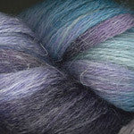 Linaza alpaca, linen, and tencel sport weight yarn Hand Dyed Purple Turquoise Grey 0002