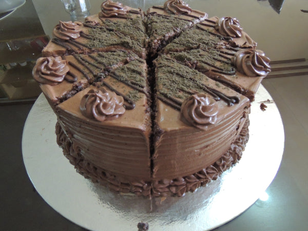 Chocolate Yema cream cake