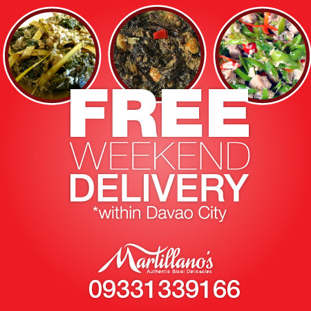 Free weekend delivery to Davao City