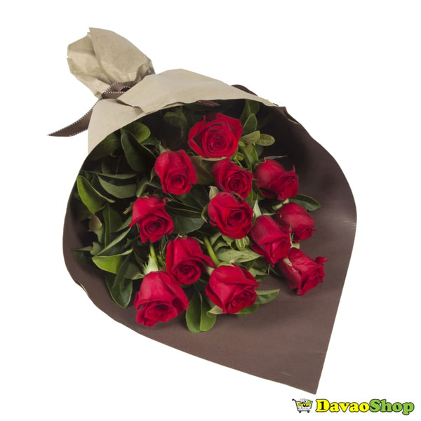 12 Rose Bouquet - Flower Arrangements | Davaoshop - The 1St Online Shop In Davao Since 2003