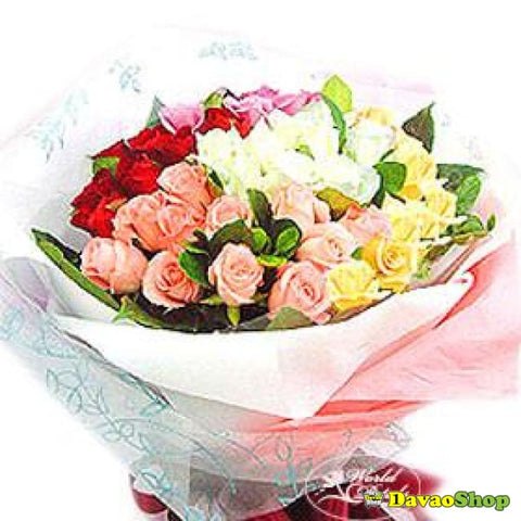 3 Dozen Mixed Roses - Flower Arrangements | Davaoshop - The 1St Online Shop In Davao Since 2003