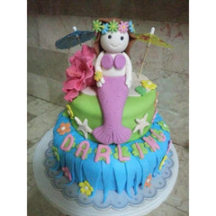 Two Layers Custom Marshmallow Fondant Cakes by DavaoShop