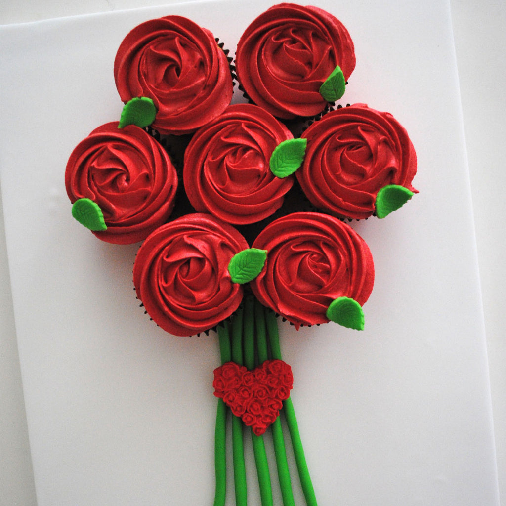 Red Rose cupcake bouquet by Davaoshop