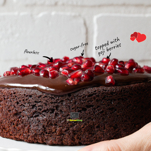 Mini Gluten Free Flourless Dark Chocolate Cake - DavaoShop - The 1st Online Shop in Davao Since 2003