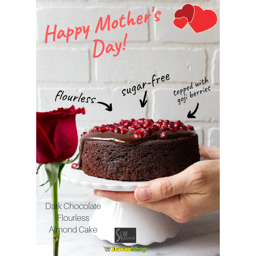 Mini Gluten Free Flourless Dark Chocolate Cake - DavaoShop - Send flowers, gifts to your loved ones in Davao City - the 1st Online Shop in Davao Since 2003