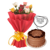 I Adore You Roses and Cake Combo - DavaoShop - Send flowers, gifts to your loved ones in Davao City - the 1st Online Shop in Davao Since 2003