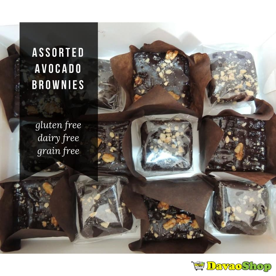 Assorted Avocado Brownies in a Box - DavaoShop - Send flowers, gifts to your loved ones in Davao City - the 1st Online Shop in Davao Since 2003