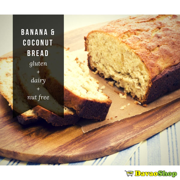 Banana and Coconut Bread - Gluten Free Dairy Free Grain Free - DavaoShop - The 1st Online Shop in Davao Since 2003