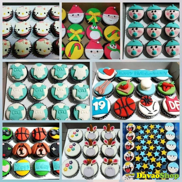 Custom Fondant Cupcakes - Cake Add Ons | Davaoshop - The 1St Online Shop In Davao Since 2003