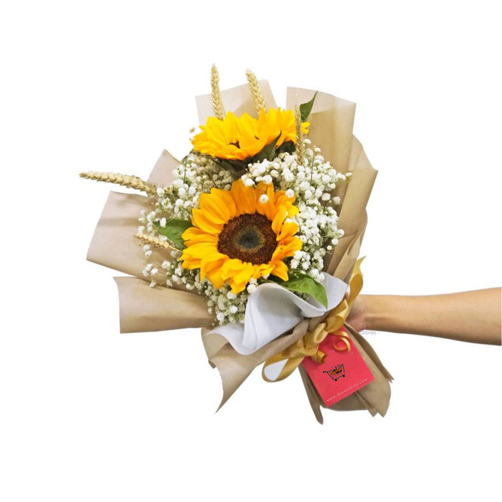 Sunflower Love Bouquet - DavaoShop - Send flowers, gifts to your loved ones in Davao City - the 1st Online Shop in Davao Since 2003