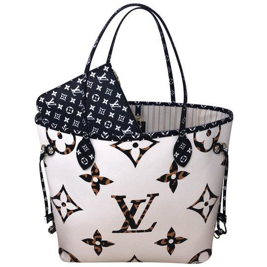 Louis Vuitton Neverfull Mm Jungle Giant Monogram Ivoire Coated Canvas Tote
