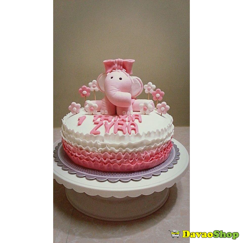 One Layer Custom Marshmallow Fondant Cakes by DavaoShop - DavaoShop - Send flowers, gifts to your loved ones in Davao City - the 1st Online Shop in Davao Since 2003
