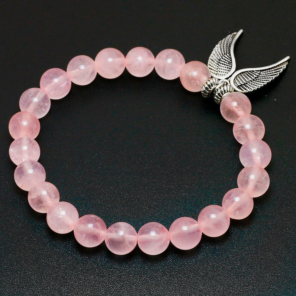 Rose Pink Quartz Chakra Mala love bracelet 2019 - DavaoShop - Send flowers, gifts to your loved ones in Davao City - the 1st Online Shop in Davao Since 2003