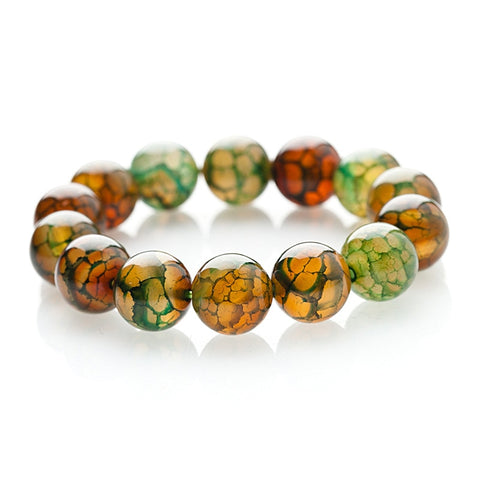 Peacock Agate Protection Charm Bracelet 2019