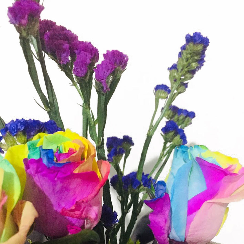 Rainbow Roses in a Vase - DavaoShop - Send flowers, gifts to your loved ones in Davao City - the 1st Online Shop in Davao Since 2003
