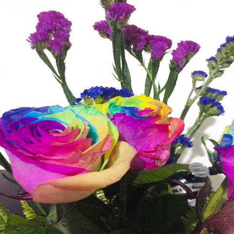 Rainbow Roses in a Vase - DavaoShop - The 1st Online Shop in Davao Since 2003