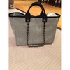Chanel Large Grey Deauville Tote with Silver Chain - DavaoShop - Send flowers, gifts to your loved ones in Davao City - the 1st Online Shop in Davao Since 2003