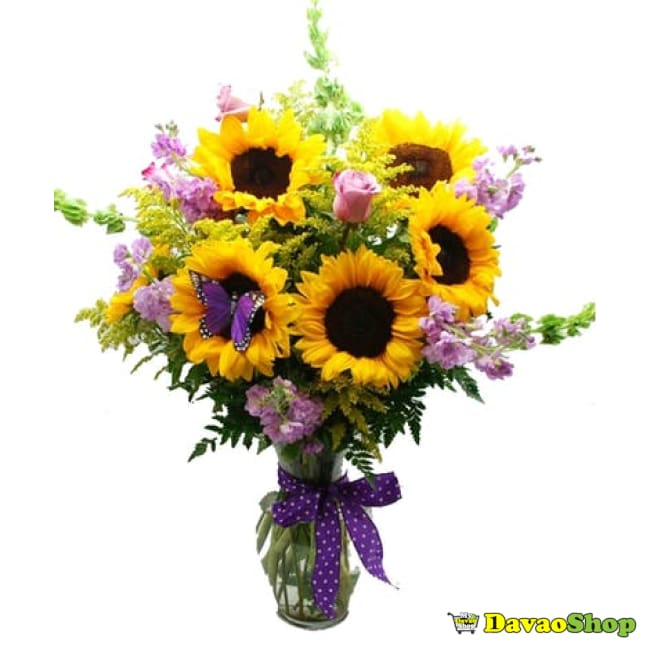 Stunning Sunflower Bouquet - DavaoShop - Send flowers, gifts to your loved ones in Davao City - the 1st Online Shop in Davao Since 2003