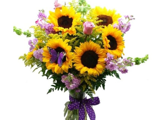 Stunning Sunflower Bouquet - Flower Arrangements | Davaoshop - The 1St Online Shop In Davao Since 2003