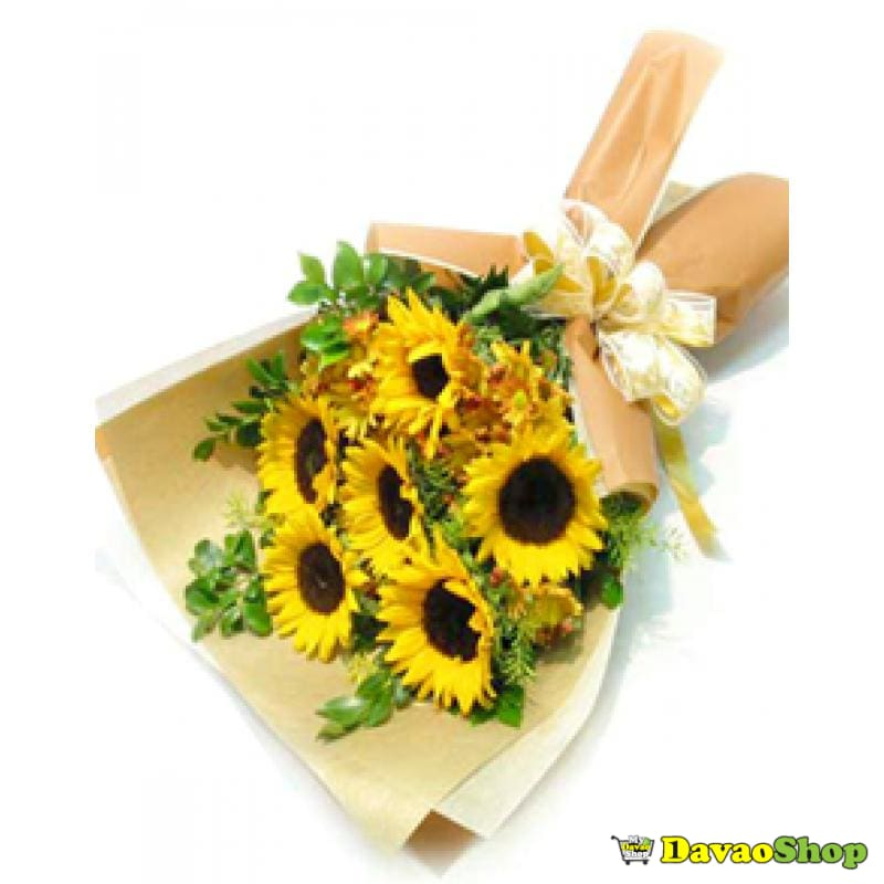 Sunflowers bouquet - DavaoShop - Send flowers, gifts to your loved ones in Davao City - the 1st Online Shop in Davao Since 2003