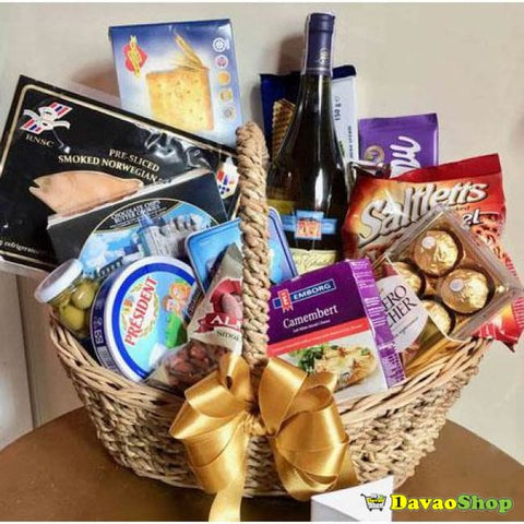Wine Cheese And Gourmet Basket - Gift Baskets | Davaoshop - The 1St Online Shop In Davao Since 2003