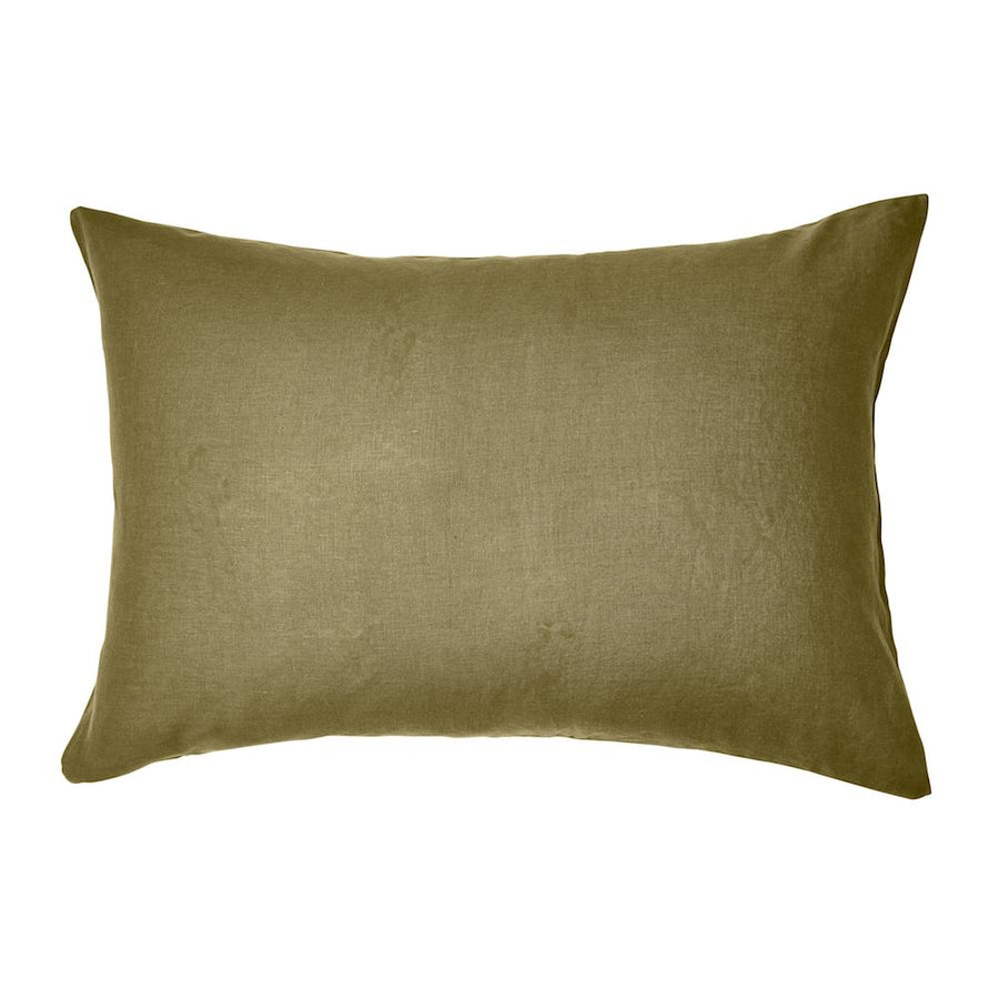 Moss Linen Pillowcase 2P Set