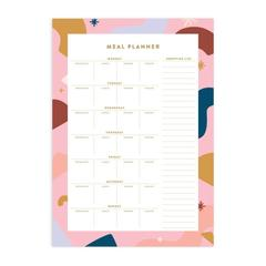 Abstract A4 Meal Planner