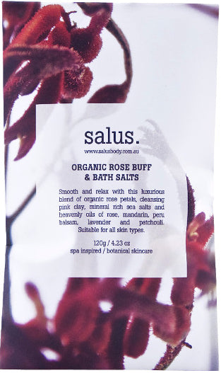 Organic Rose Buff & Bath Salts