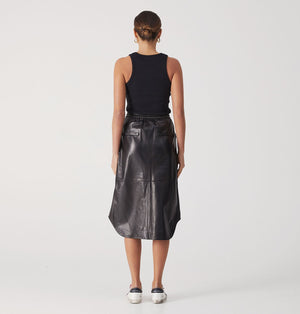 Willow Leather Skirt