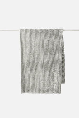 Stripe Organic Cotton Towel Range | Olive/White