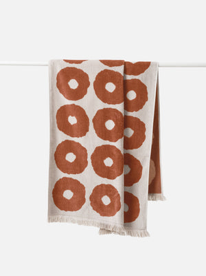 Etta Organic Cotton Towel Range | Chestnut/Bone