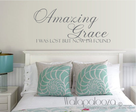 Amazing Grace Wall Decal - Home Decor - Family Wall Decal