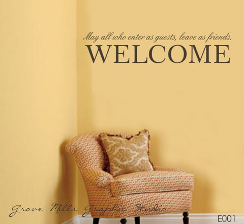 Welcome to our home Wall Decal - Welcome Wall Decal - Family Wall Decal