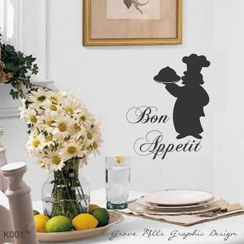 Kitchen wall decal - Bon Appetit