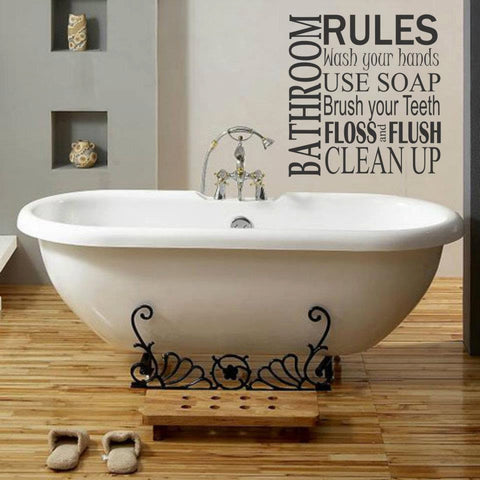 Bathroom Rules Wall decal - Bath Wall Decor - Wall Decal - Wall Decor