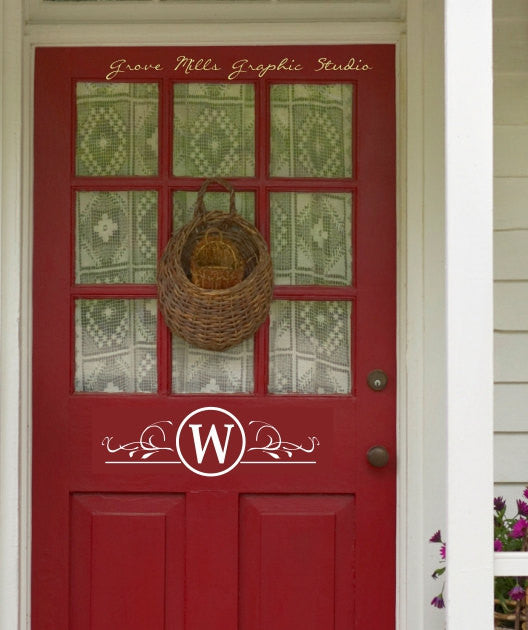 Door decal front door monogram custom door monogram