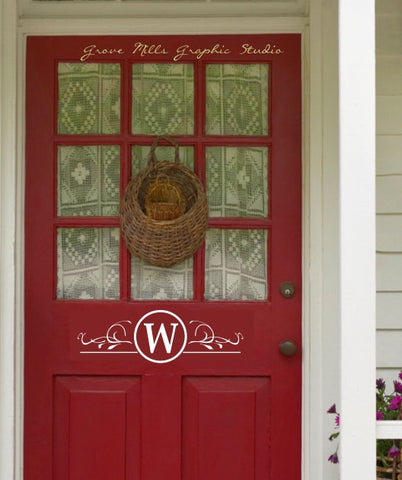 Door decal - Front Door Monogram - Custom Door Monogram