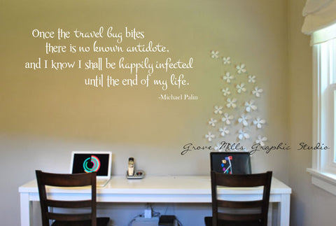 Travel Wall Quote - Travel Wall Decal - Travel Decor