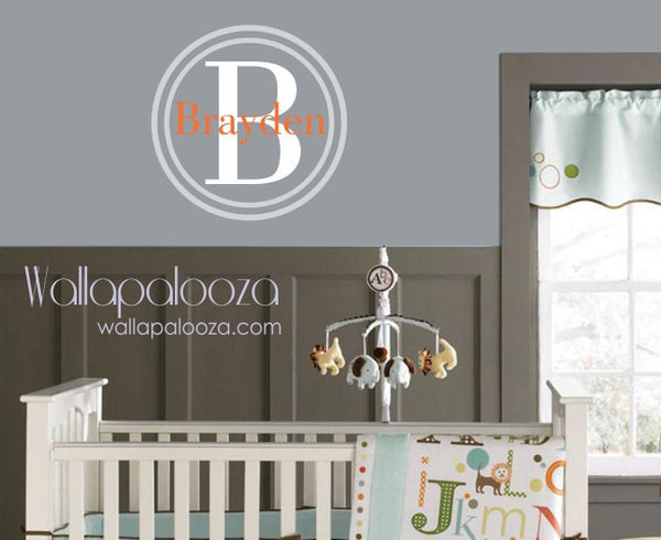 Custom name wall decal - Nursery Wall Decor - Personalized Children's Wall Art