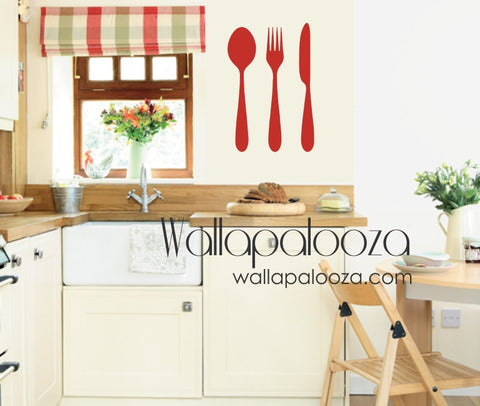 Kitchen Wall Decal - Utensils wall decal - Kitchen Decor