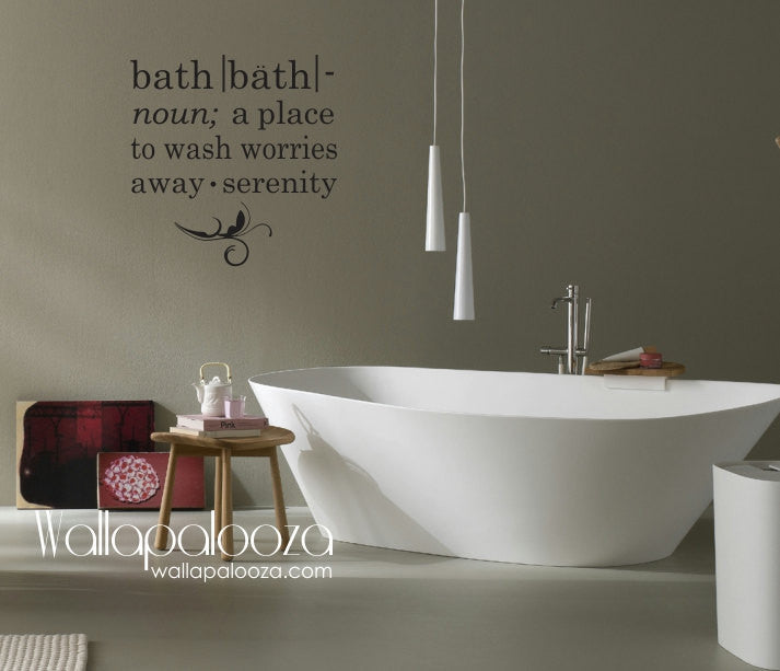Bathroom Wall Decal   Bath Wall Decal   Bath Meaning Wall Decal   Bathroom    Spa