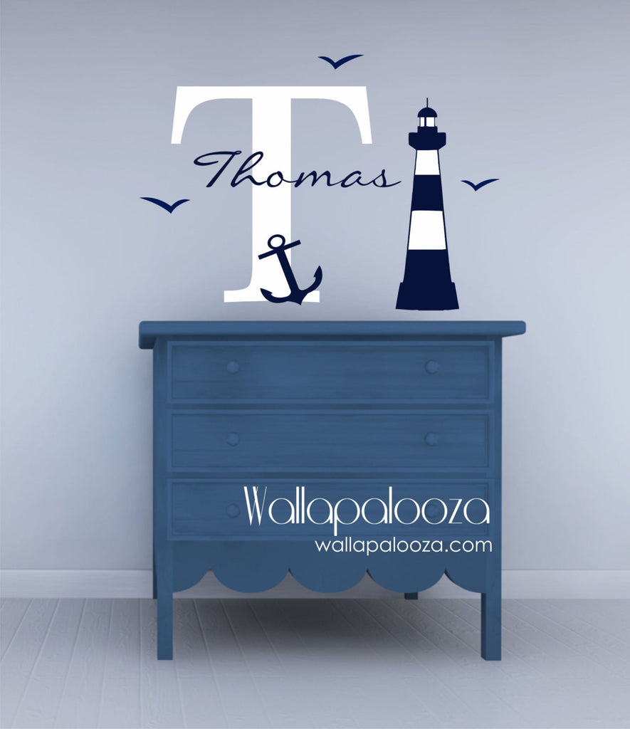 Nautical Wall Decal - Nursery wall art - Sailing wall decal