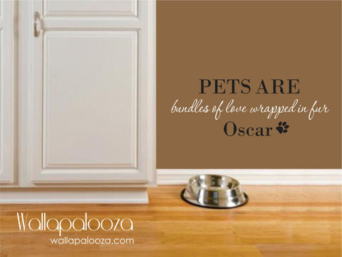 Pet Wall Decal - Pet Wall Decor -  Pet Name wall decal - Dog wall decal