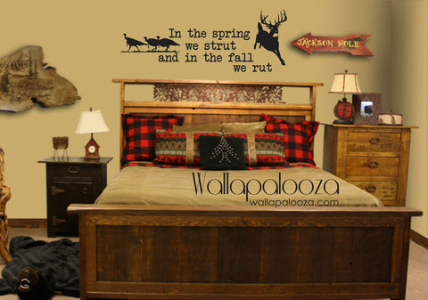 Deer and Turkey Wall Decal - Nursery Wall Decal - Hunting Wall Decal