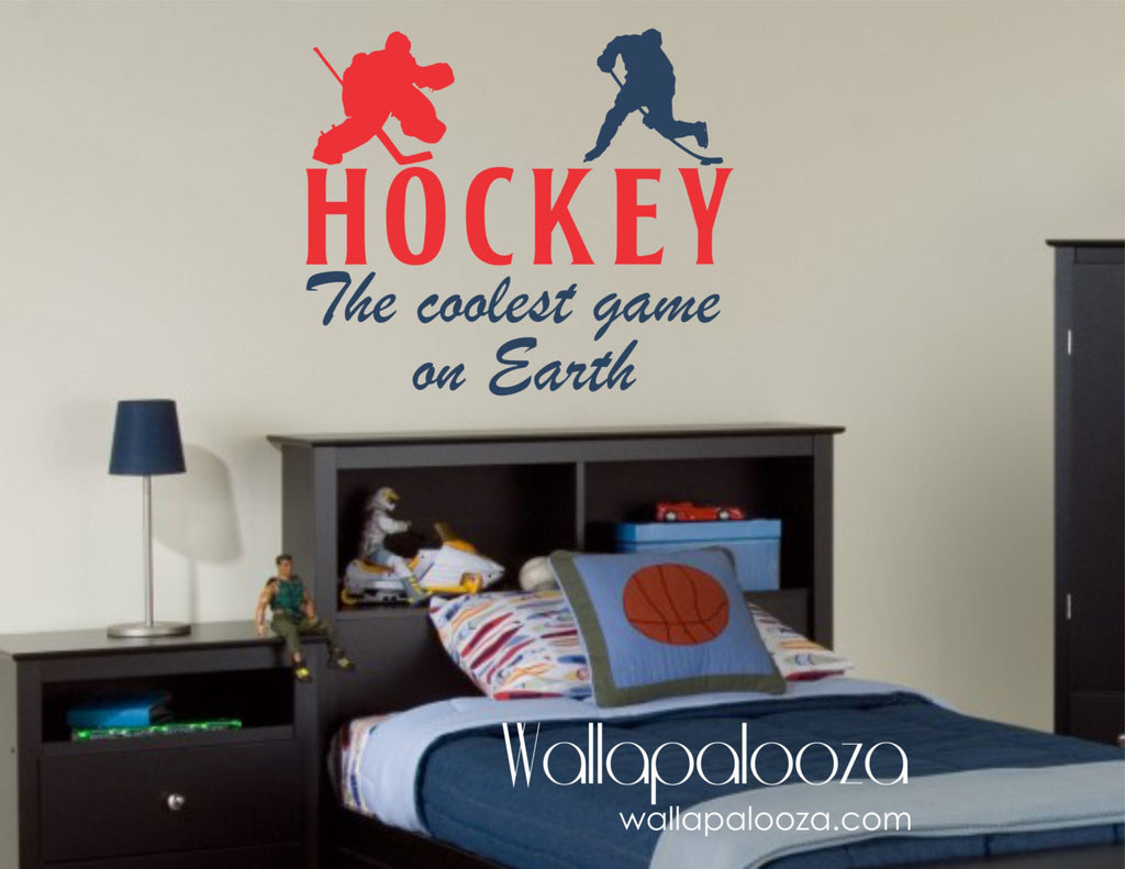 Hockey Wall Decal   Hockey Wall Art   Hockey Wall Decor   Sports Wall Decal