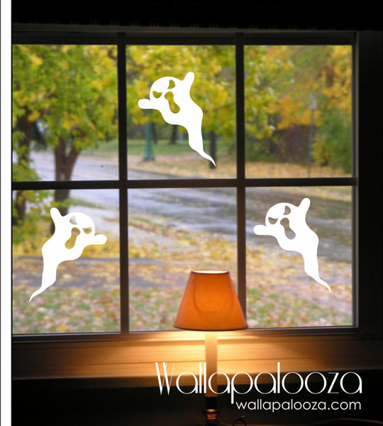 Ghosts Decals - Set of 6 Halloween Ghosts - Halloween wall decal