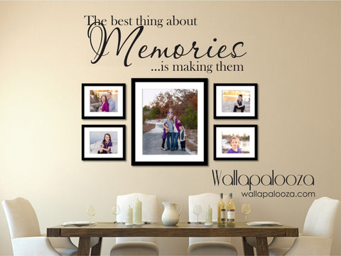 Family wall decal - The best thing about memories wall decal