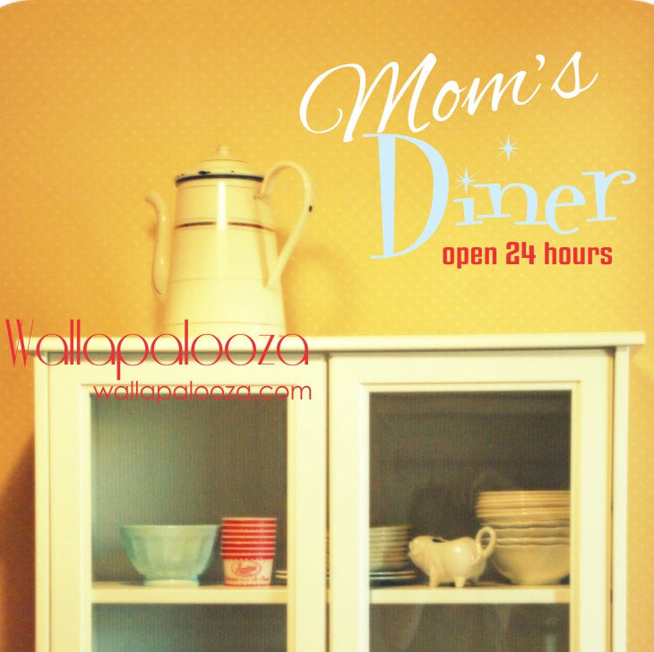 Kitchen wall decal - Mom\'s Diner kitchen decal - Kitchen Wall Art ...