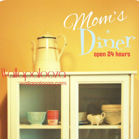 Kitchen wall decal - Mom's Diner kitchen decal - Kitchen Wall Art